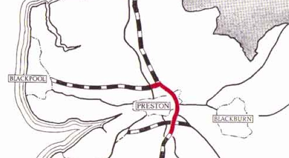 Preston By-pass, Britain's first motorway.