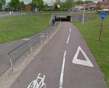 Stevenage underpass. By Google Street View.