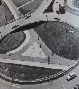 Stevenage cycleway, 1970s. The cycleway is still there today.