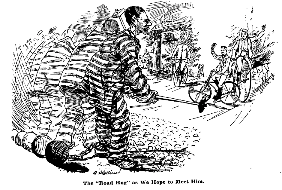 Road Hog as we hope to meet him 1889