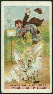 bicycle for sale cigarette card