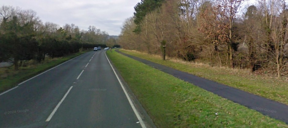 And here's the A24 today. The path is still there, albeit narrower.