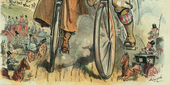 'The biggest people on the road!' Puck magazine, May 1896.