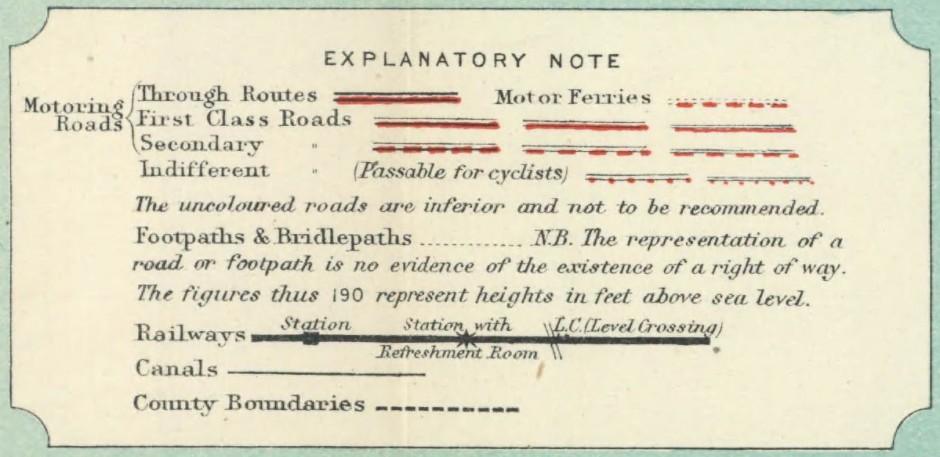Bartholomew map, 1920