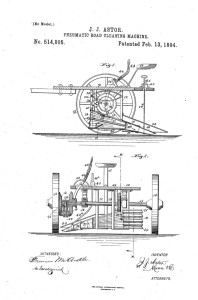 pneumatic road cleaning machine Astor 1894
